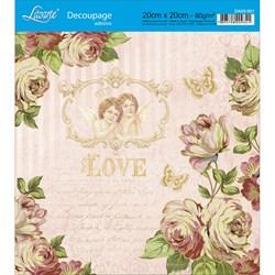 Adesivo Quadrado Litoarte 20x20cm DA20-051 Rosas e Anjos