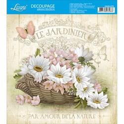 Adesivo Quadrado Litoarte 20x20cm DA20-070 Cesto de Flores