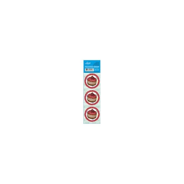 Adesivo Redondo Para Lembrança AR5-049 Cupcake