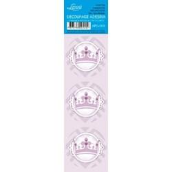 Adesivo Redondo Para Lembrança AR5-069 Coroa Lilás