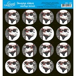 Adesivo Redondo para Lembranças Litoarte AR4-009 Lingerie