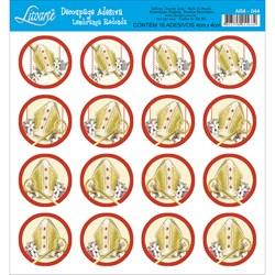 Adesivo Redondo para Lembranças Litoarte AR4-044 Coroa