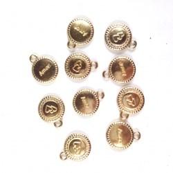 Adorno de Amor MT45 Dourado - 10 unidades