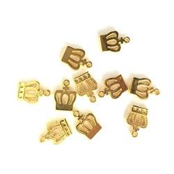 Adorno de Coroa ABS08 Dourado - 10 unidades