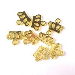 Adorno de Coroa ABS13 Dourado - 10 uniodades