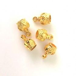 Adorno de Coroa ABS15 Dourado - 5 unidades