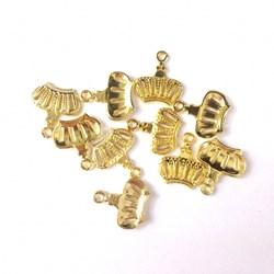 Adorno de Coroa MT03 Dourado - 10 unidades