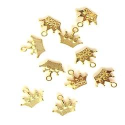 Adorno de Coroa MT28 Dourado - 10 unidades