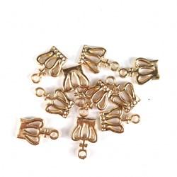 Adorno de Coroa MT39 Dourado - 10 unidades