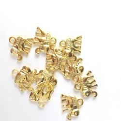 Adorno de Elefante MT18 Dourado - 10 unidades
