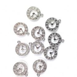 Adorno de Relógio MT01 Prata - 10 unidades