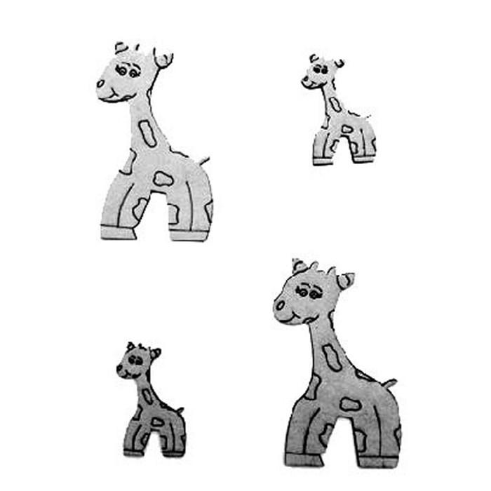 Aplique Chipboard 446 Girafa 2 - 4 unidades