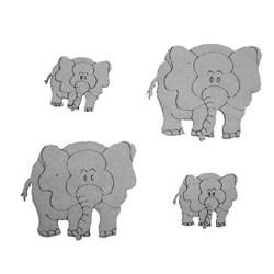 Aplique Chipboard 448 Elefante 01 - 4 unidades