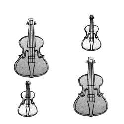 Aplique Chipboard 572 Violino - 4 unidades