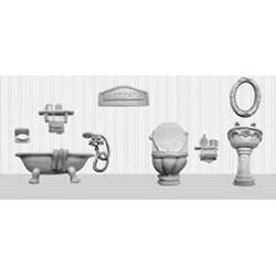 Aplique de Resina APR285 Jogo de Banheiro G - com 9 peças