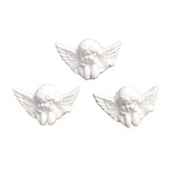 Aplique de Resina APR419 Trio Rosto de Anjo 1,5x03cm - com 3 unidades
