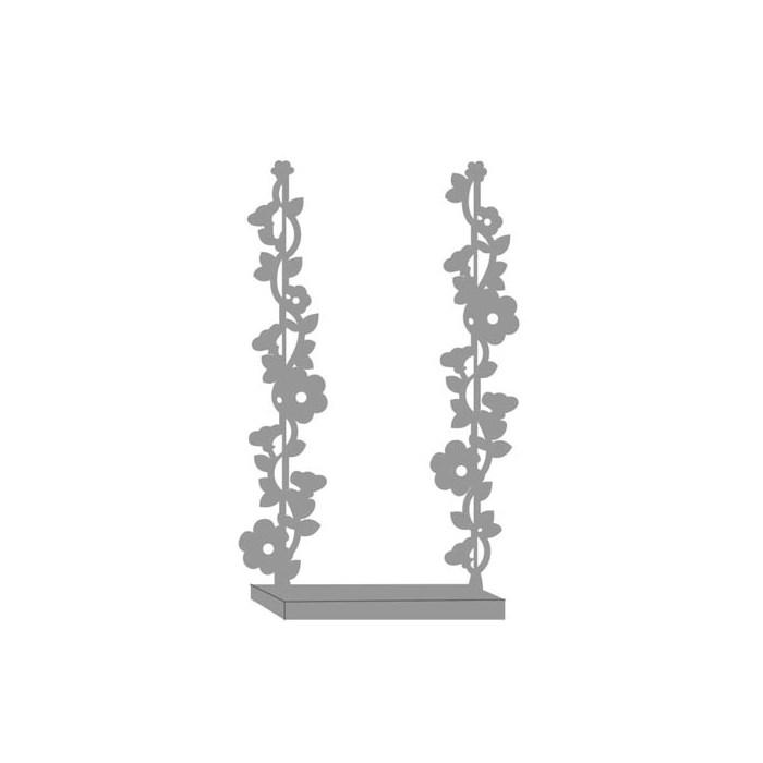 Aplique Decorativo Scrap Balanço Floral CH-165 - com 2 unidades