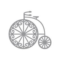 Aplique Decorativo Scrap CH-073 Bicicleta - com 2 unidades