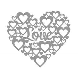 Aplique Decorativo Scrap Coração Love CH-154 - com 1 unidade
