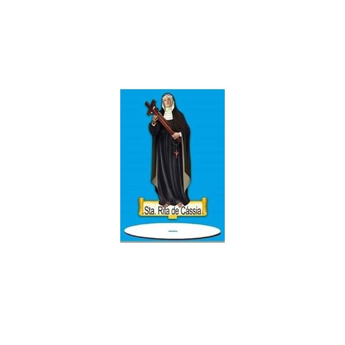Aplique em Papel e MDF AMTB-012 - Sta. Rita de Cássia