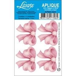 Aplique em Papel e MDF APM3-024 Laço Rosa