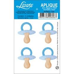 Aplique em Papel e MDF APM3-134 Chupeta Azul