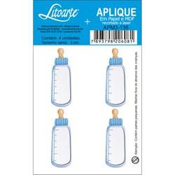 Aplique em Papel e MDF APM3-136 Mamadeira Azul