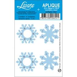 Aplique em Papel e MDF APM3-152 Floco de Neve