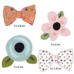 Aplique Em Papel e MDF APM3-281 Flores e Laços