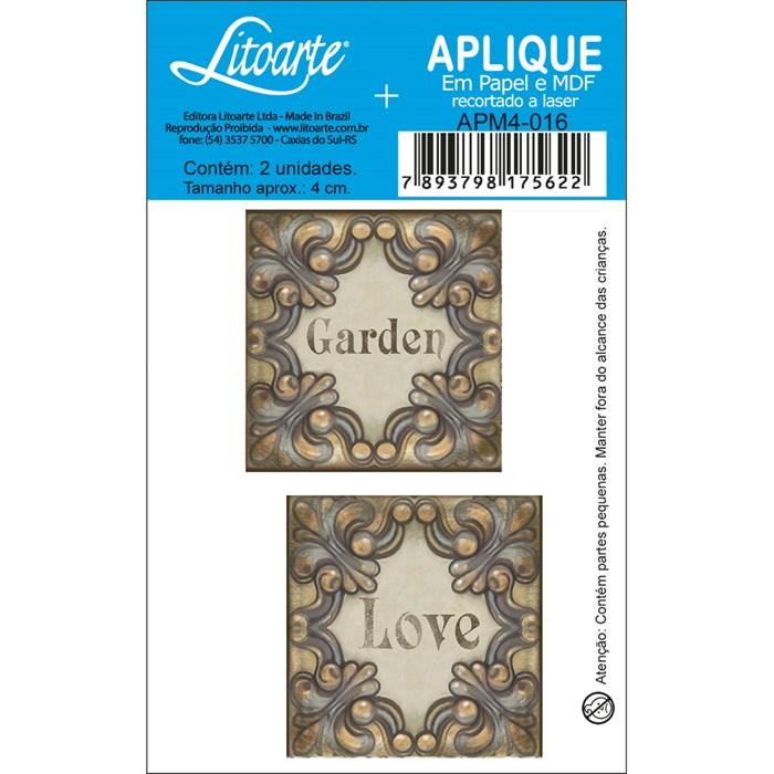 Aplique em Papel e MDF APM4-016 Garden