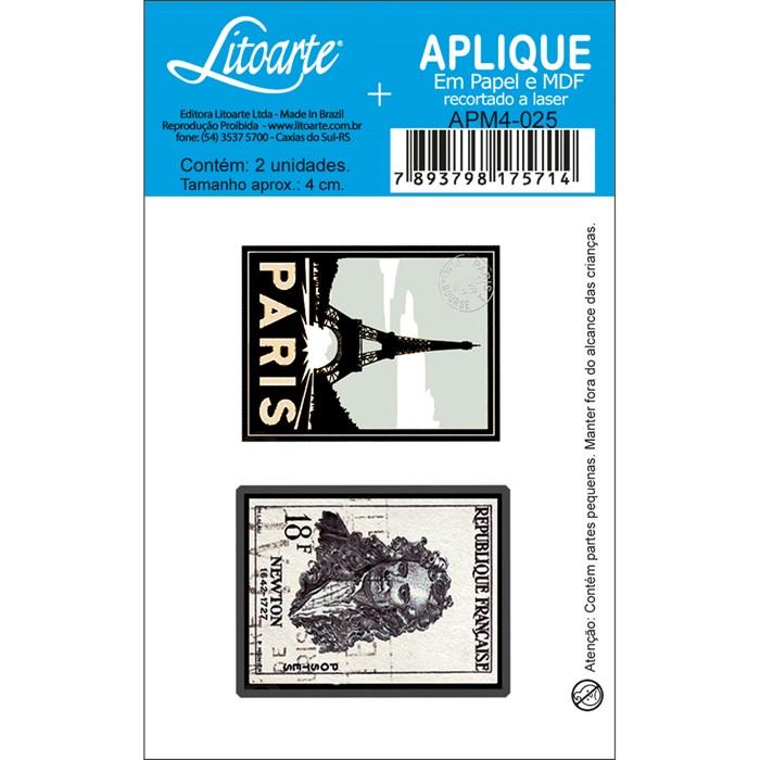 Aplique em Papel e MDF APM4-025 Paris