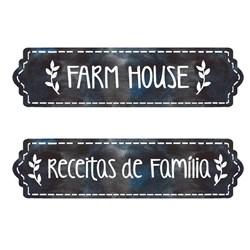 Aplique Em Papel e MDF APM4-438 Farm House