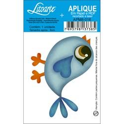 Aplique em Papel e MDF APM8-016 Passáro Azul