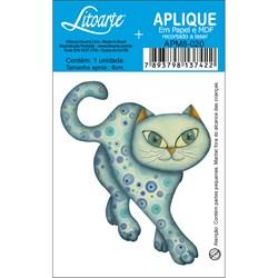 Aplique em Papel e MDF APM8-020 Gato Azul