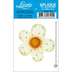 Aplique em Papel e MDF APM8-059 Flor