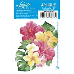 Aplique em Papel e MDF APM8-1089 Flores Tropicais O
