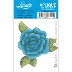 Aplique em Papel e MDF APM8-250 Rosa Azul