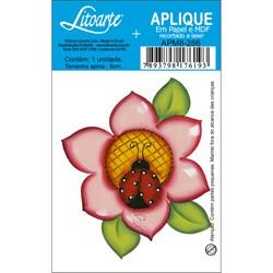 Aplique em Papel e MDF APM8-286 Flor com Joaninha