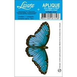 Aplique em Papel e MDF APM8-404 Borboleta Azul