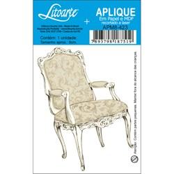 Aplique em Papel e MDF APM8-423 Cadeira Bege