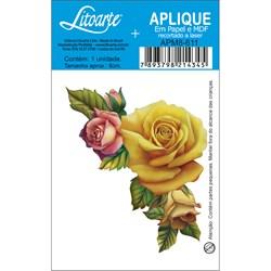 Aplique em Papel e MDF APM8-611 Rosas Amarelas e Rosas