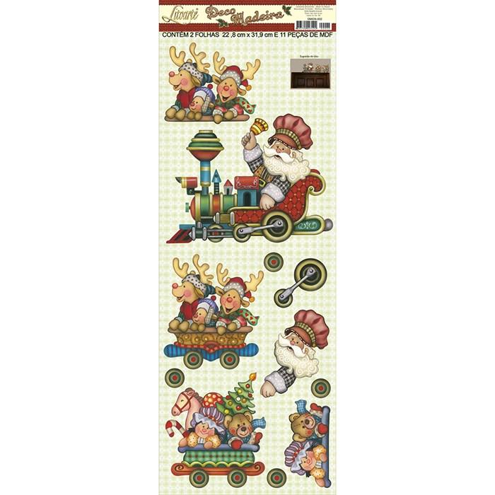 Aplique em Papel e MDF DMGN-002 Trenzinho de Natal