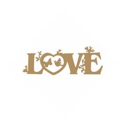 Aplique MDF Arte Fácil LR-621 Love - 4 unid