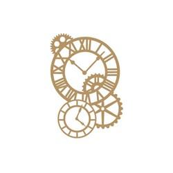 Aplique MDF Arte Fácil LR-674 Relógios - 2 unid