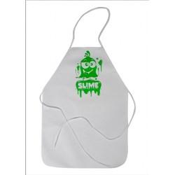 Avental TNT Infantil Slime M - Branco/Verde II
