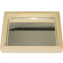 Bandeja com Espelho Quadrado 14x14x1cm MDF-48