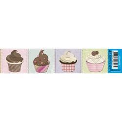 Barra Adesiva Litoarte BDA-IV-327 Cupcake