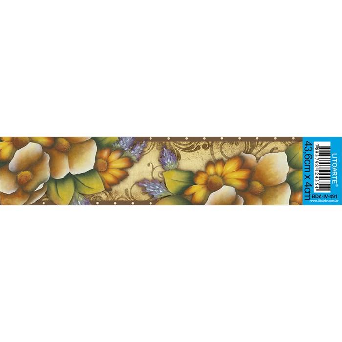 Barra Adesiva Litoarte BDA-IV-491 Flores
