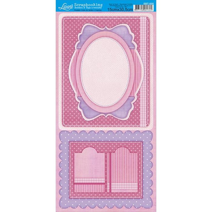 Borders e Tags com Recorte Litoarte SBT-005 Tag Baby Pink
