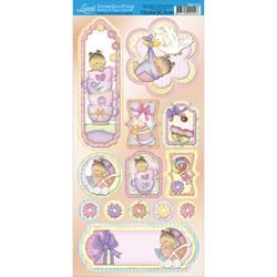 Borders e Tags com Recorte Litoarte SBT-013 Baby Girl II